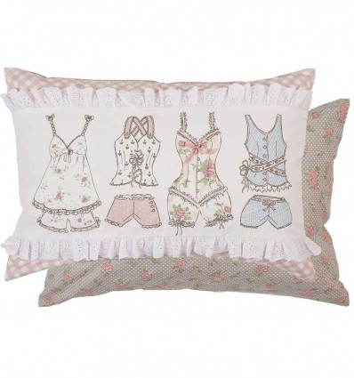 Coussin shabby Les nuisettes