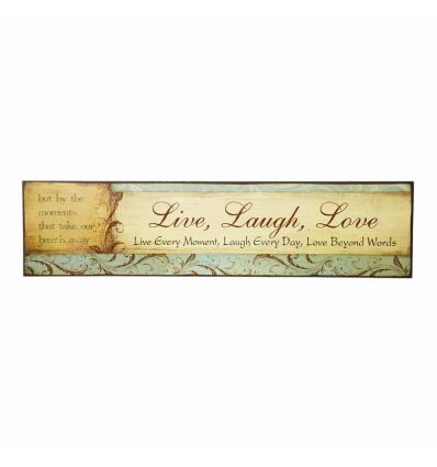 Plaque décorative Live Laugh Love