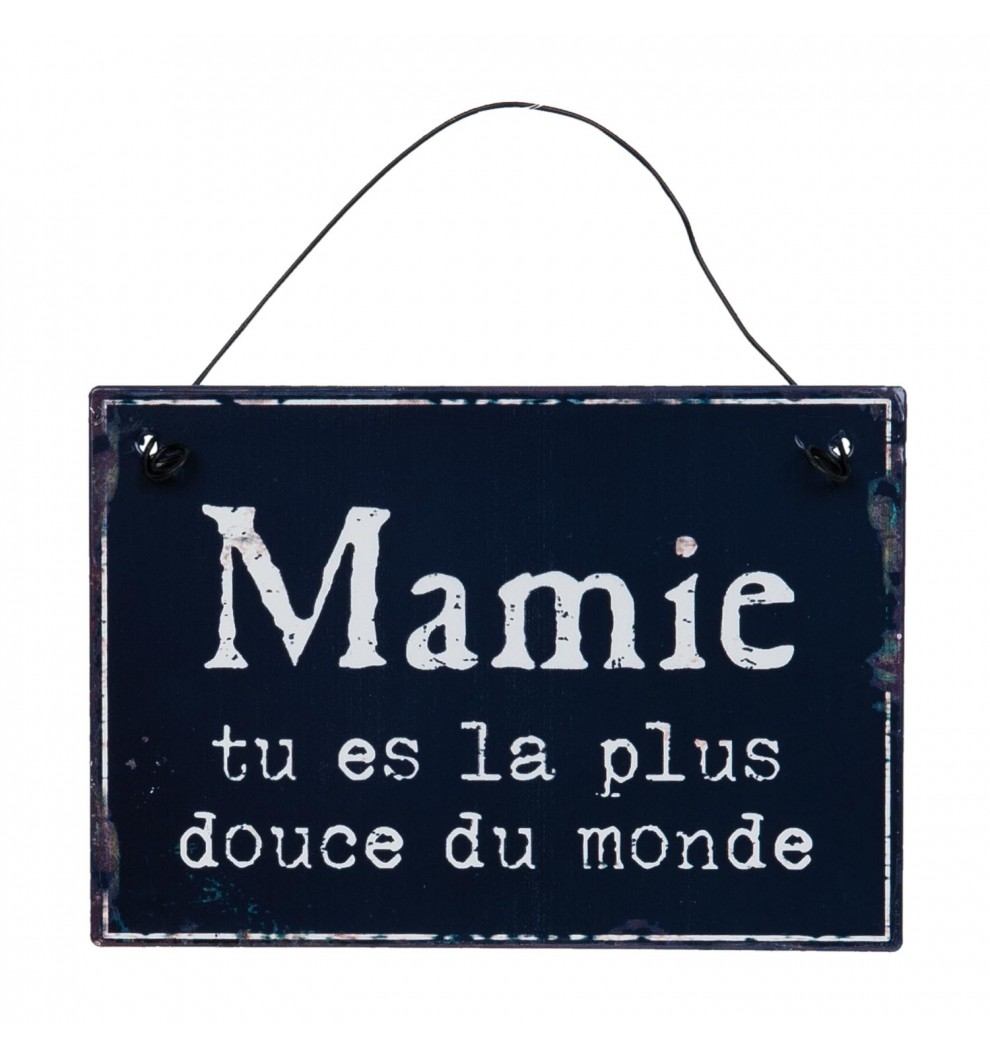 Plaque d corative mamie for Plaque de porte decorative