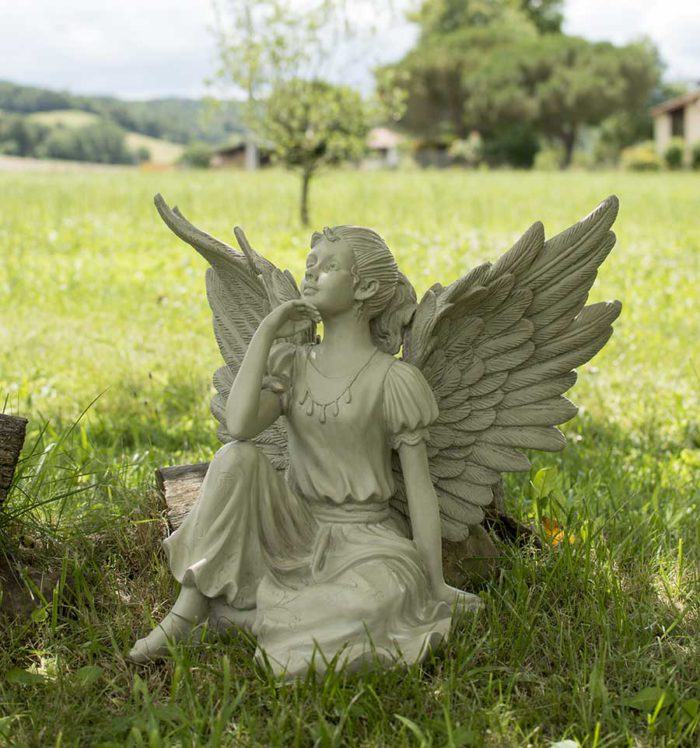 ange dans un pré
