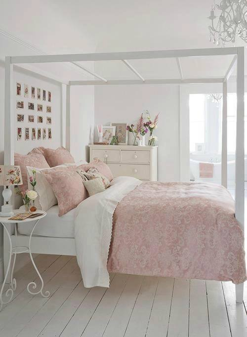 la d coration d 39 une chambre shabby chic. Black Bedroom Furniture Sets. Home Design Ideas
